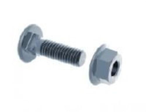 Conjunto tornillo cuadrado M8x20 electrozincado