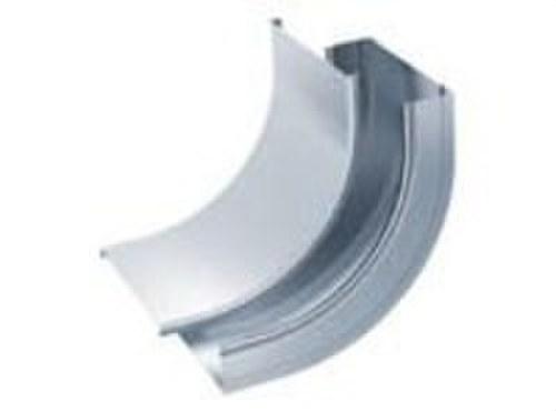 Tapa curva vertical cóncava 90º 100 galvanizado senzimir