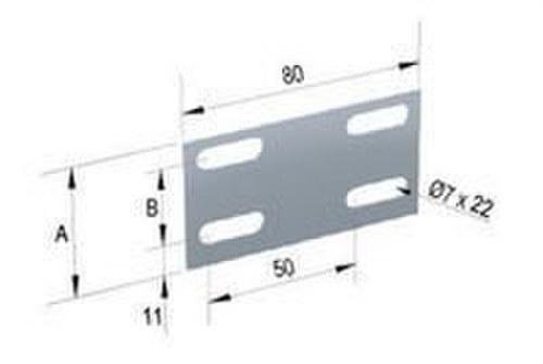 Empalme canal 43x25 galvanizado senzimir