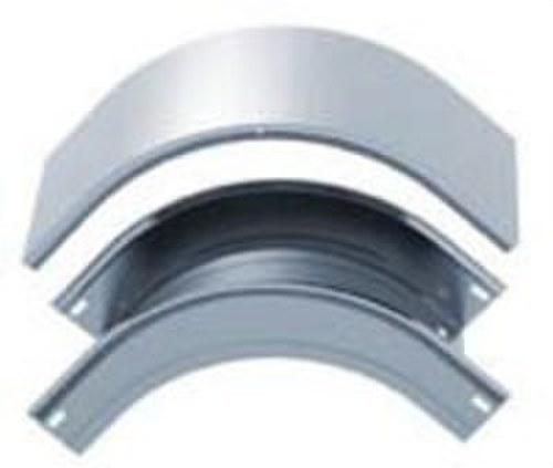 Tapa curva vertical convexa 90º 100x60 galvanizado senzimir