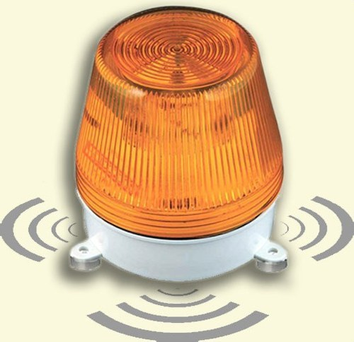 Avisador sonido luz LED AL-S 24VCCA ámbar