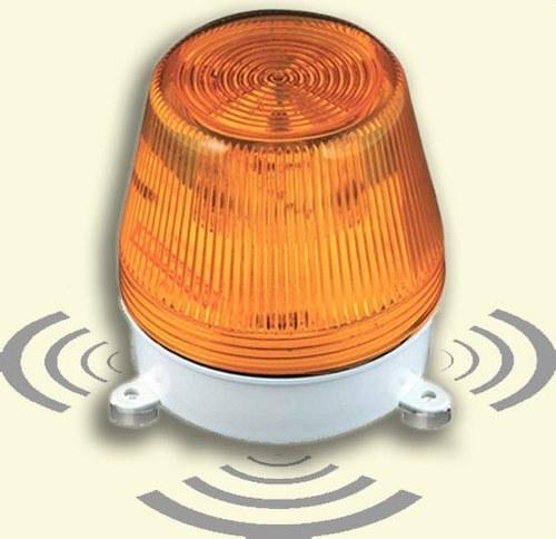 Avisador sonido luz LED AL-S 230/110/48VCA ámbar