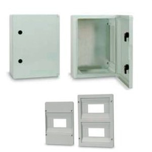 Armario puerta ciega 400x500x175mm gris RAL7035