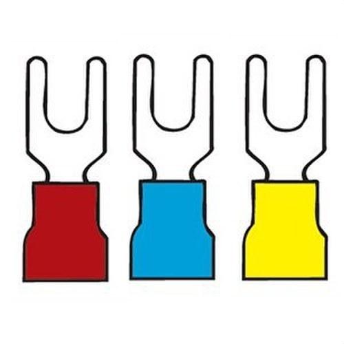 Terminal preaislado horquilla diámetro 6 amarillo