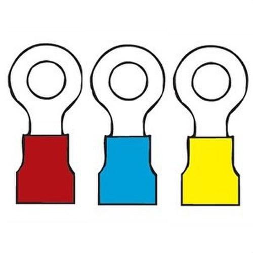 Terminal preaislado redondo diámetro 8 amarillo