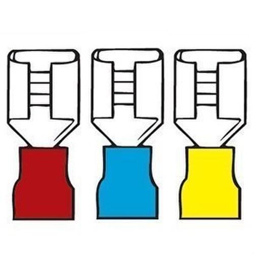 Terminal preaislado enchufe plano diámetro 6,3-0,8 amarillo