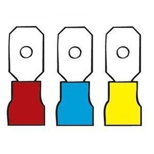 Terminal preaislado lengüeta diámetro 6,3x0,8 amarillo
