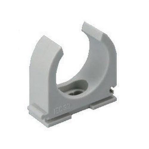 Abrazadera para tubo rígido flexible M63 libre de halógenos gris