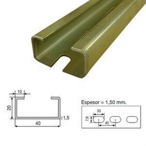 Perfil C-4020a-Z perforado zincado