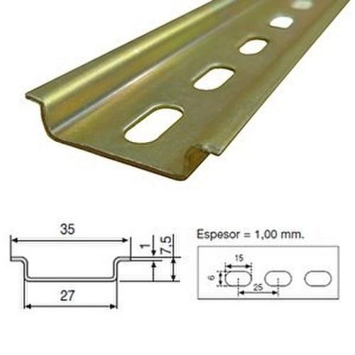 Perfil omega perforado zincado