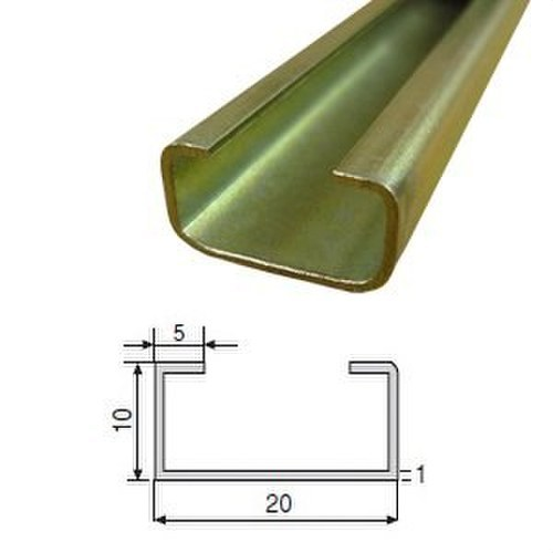 Perfil C-2010-G liso galvanizado