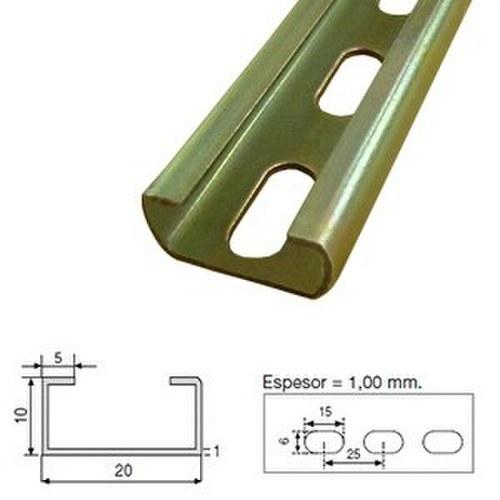 Perfil C-2010A-G perforado galvanizado