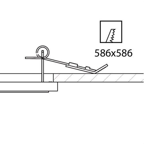 Muelle empotrar techo cartón-yeso 906 cincado