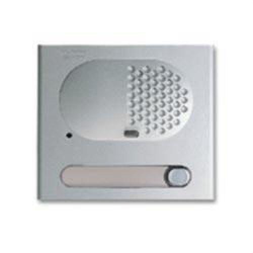 Módulo rejilla audio 1 pulsador aluminio