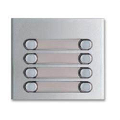 Módulo 8 pulsadores aluminio