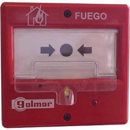 Pulsadores P/440C rearmable alarma convencional tapa