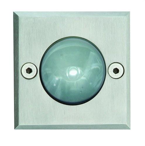 EMP. SQUARE GLASS IP67 LED 1X1W INOX.