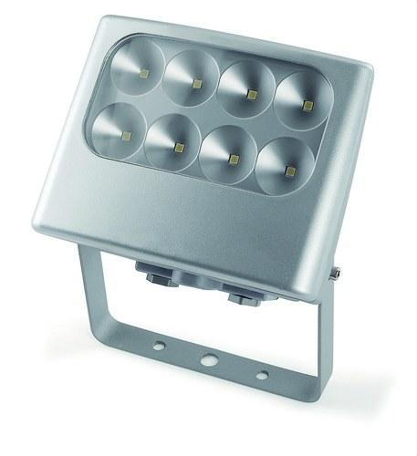 Piqueta IP5 LED 4 8x3W aluminio/gris