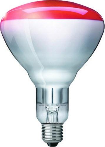 Lámpara IR infrarrojos 150W E27 R125 rojo HG