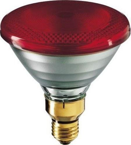 Lámpara IR 100W E27 230V PAR38 rojo