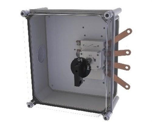 Caja EI-160 con interior corte en carga 160A