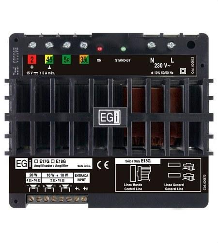 Amplificador autónomo mono-stereo 10+10W