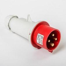 IDE 03102 Clavija aérea IP44 3 polos + tierra 380V 16A 6h de color rojo