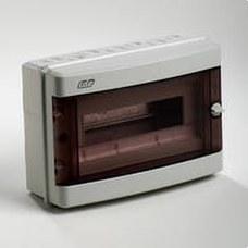 IDE CD13PT CAJA 13M DIN 305x214x118 PTA.TRANSP.GRIS