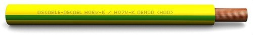 CABLE H07V-K 10mm2 AMARILLO VERDE (ROLLO 100m)