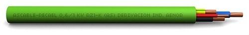 Cable RZ1-K 0,6/1kV 6G1,5mm² verde claro (Bobina)