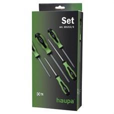 HAUPA 101212/S Juego de destornilladores TX 2 componentes Torx con pin seguridad