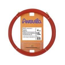 ANGUILA 20400015 Pasacables acero nylon 4mm 15m rojo