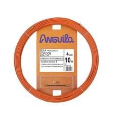 ANGUILA 60400010 Pasacables cordón acero / polipropileno 4mm 10m naranja