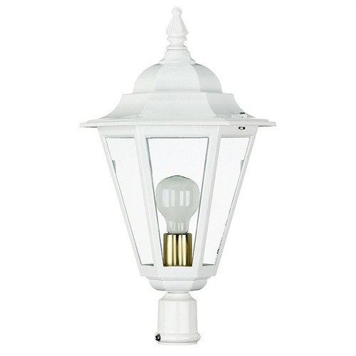 Cabeza 1 lámpara blanco ELITE-6 cristal transparente