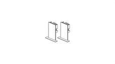ARKOSLIGHT 10500010WT Conjunto tapas superficie/suspendida FIFTY blanco