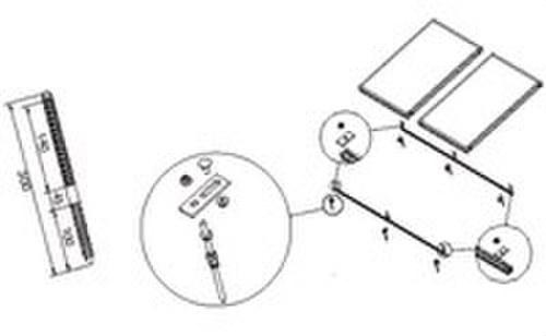 Soporte universal sobre tejado inclinada 1 captador