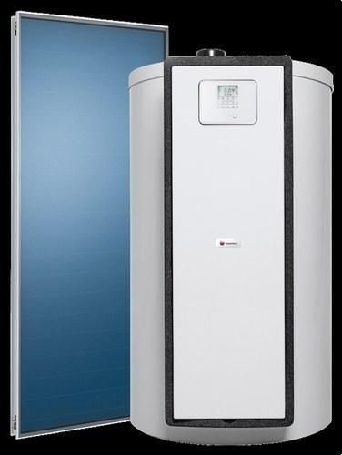 Pack solar con drenaje automático HELIOSET DB 250 T acumulador 250 litros con 1 captador vertical clase de eficiencia energética B