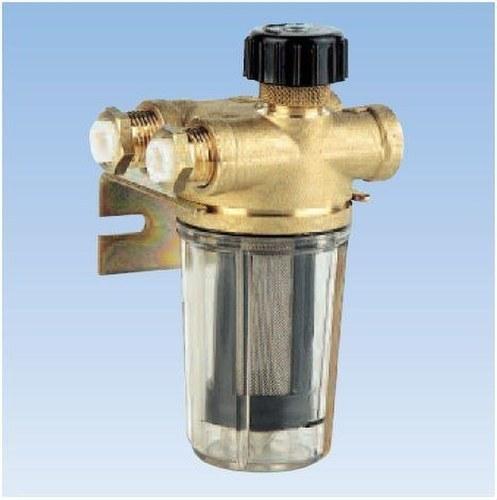 Filtro en línea de dos vías para gasóleo RV2, con válvula de rosca en la impulsión y válvula de retención en el retorno