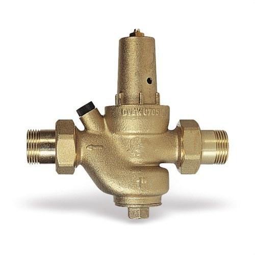 Válvula reductora 1 M-M DRV de presión de membrana con asiento compensado y racores en cuerpo y casquete de latón