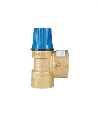 Válvula de seguridad de membrana ordinaria 1/2 x 3/4 H-H 4bar con cuerpo en latón y salida sobredimensionada PN10