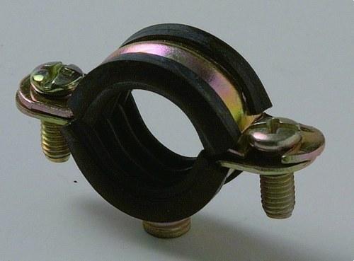 Abrazadera metálica isofónica M6 diámetro 12 bicromatado