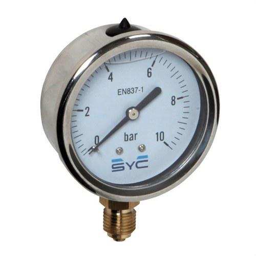 Manómetro con glicerina SYC430 0-10Bar