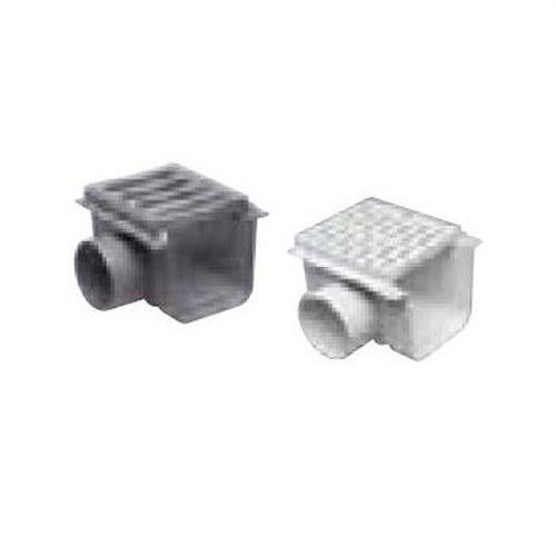 CANALETA CON REJILLA HORIZONTAL DIAMETRO 90 PVC 170x170 GRIS