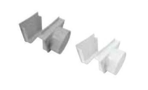 CONJUNTO TAPA-SALIDA PARA CANALETA PVC DIAMETRO 110 GRIS