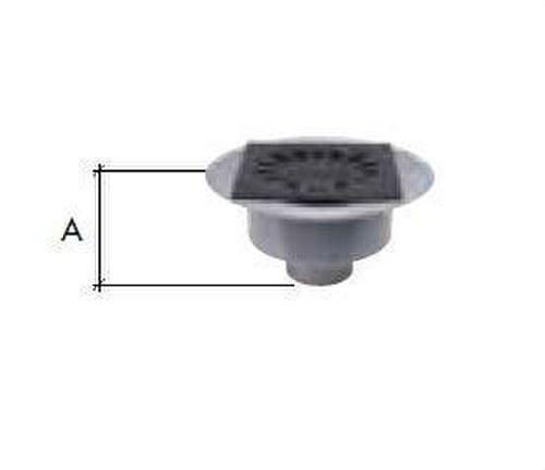 CALDERETA SIFONICA VERTICAL PVC-PP 200x200 DIAMETRO 110