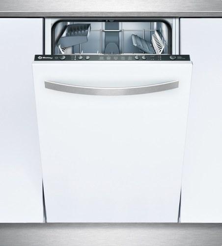 LAVAVAJILLAS INTEGRABLE 45cm PANEL NEGRO CLASE DE EFICIENCIA ENERGETICA A+