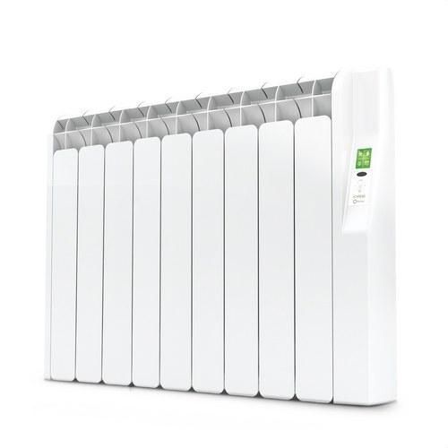 Radiador eléctrico digital KYROS 9 elementos 990W blanco de bajo consumo