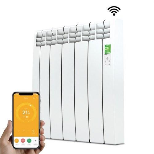 Radiador digital Serie D 5 elementos 550W blanco conectado de bajo consumo