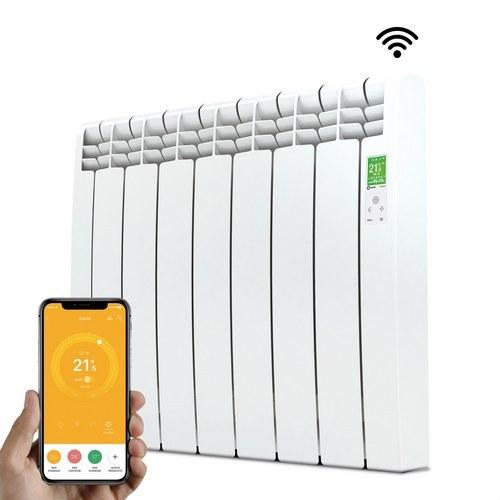Radiador digital Serie D 7 elementos 770W blanco conectado de bajo consumo