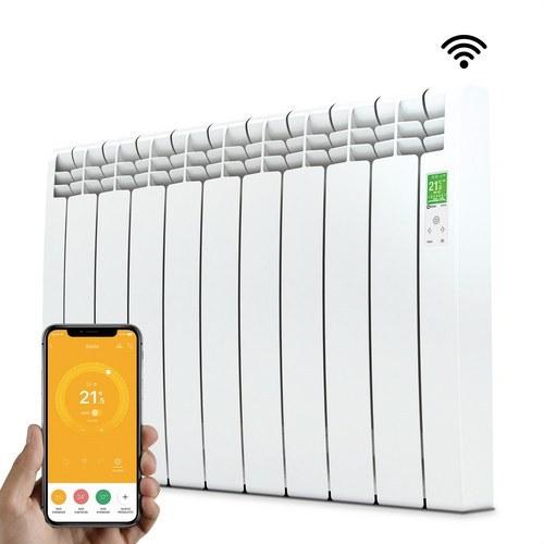 Radiador digital Serie D 9 elementos 990W blanco conectado de bajo consumo